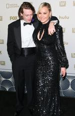 Caleb Landry Jones and Abbie Cornish attend the FOX and FX's 2018 Golden Globe Awards After Party on January 7, 2018 in Los Angeles, California. Picture: Getty