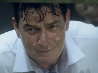 Charlie Sheen in the 9/11 trailer.