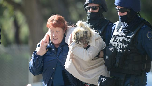 Another female hostage is released. Picture Tom Huntley