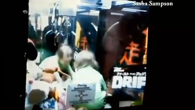 Adventurous ... the toddler managed to squeeze his way into the vending machine. Picture: KLKN-TV/Sasha Sampson
