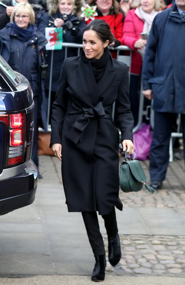 Meghan Markle made her first public appearance in Wales overnight. Picture: Chris Jackson/Chris Jackson/Getty Images