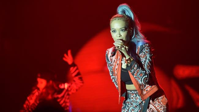 If Calvin Harris gets his way, we may not see singer Rita Ora perform her biggest hit again any time soon. Picture: Getty