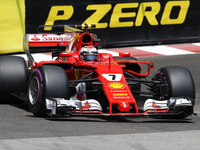 Raikkonen leads Ferrari lockout for Monaco GP