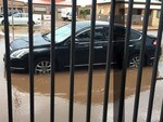 Streets flooded in Whyalla. Picture: Nadz Neyrizi. Source: Facebook.