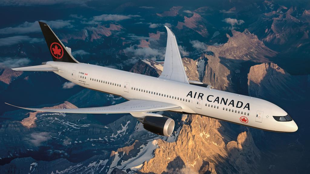 Air Canada's new livery sees the iconic Maple Leaf reinstated to the airline's tail and belly. Picture: Supplied