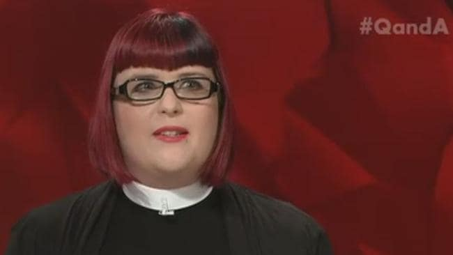 Reverend Tiffany Sparks talks about women's role in the church. Picture: ABC