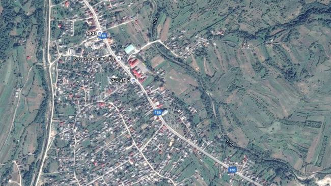 The attack hallened in Dragomirești, a town in Maramureș County, Romania. Picture: Google.