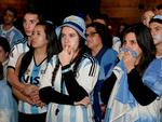 It will be a long four years for Argentina fans, from left, Javier Barbalace, Cherie Luk, Melisa Beron and Eli Barbalace after their team loses the World Cup. Picture:Noelle Bobrige