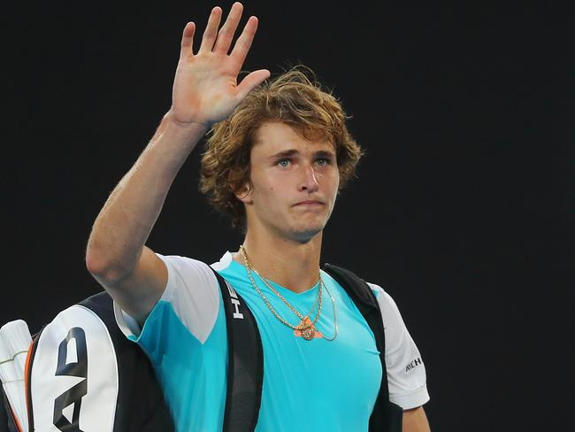 Alexander Zverev had a tough finish to his five set epic with Rafael Nadal.