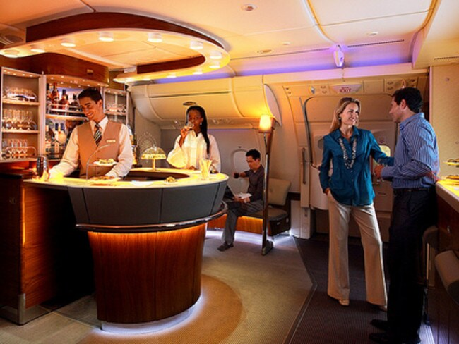 The on-board bar is perhaps the best feature. Image: Roderick Elme