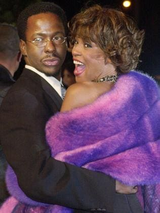 Married 15 years ... Bobby Brown and his wife Whitney Houston in 2007. Picture: AP