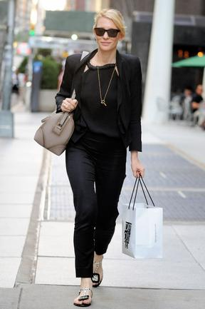Classic black: Cate Blanchett proves why she's become a modern-day style icon. Picture: Splash