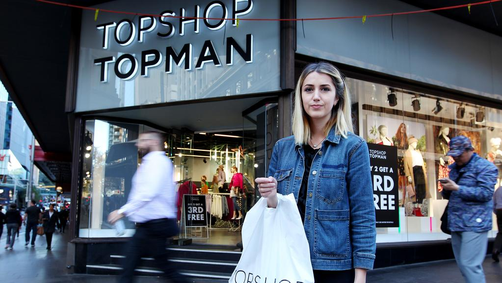 The Topshop store on Market Street in Sydney. Picture: Hollie Adams/The Australian