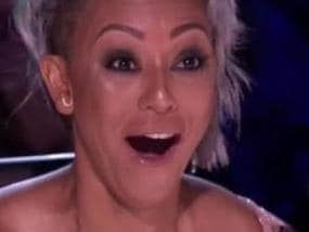 Mel B storms off America's Got Talent over Simon Cowell's crude joke about her marriage.