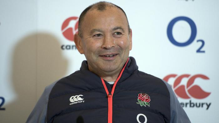 England head coach Eddie Jones speaks to journalists during a press conference at their Pennyhill Park facility in Bagshot, south-east England on December 1, 2016, ahead of their rugby union test match against Australia on December 3. / AFP PHOTO / Justin TALLIS