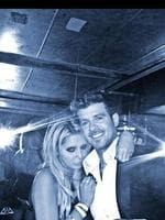 It was this picture that really kicked the rumour-mill into overdrive, however. Fan Lana Scolaro posted this picture to her Instagram of herself and Thicke after the VMA awards. Robin Thicke's hand can be seen on Scolaro's behind. She claims to not have noticed it in the reflection. Picture: Instagram