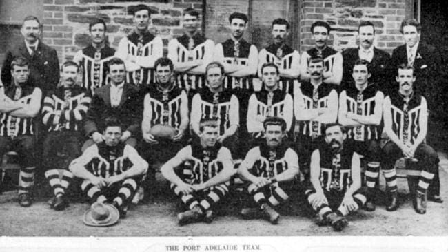 The Port Adelaide football team in 1902.