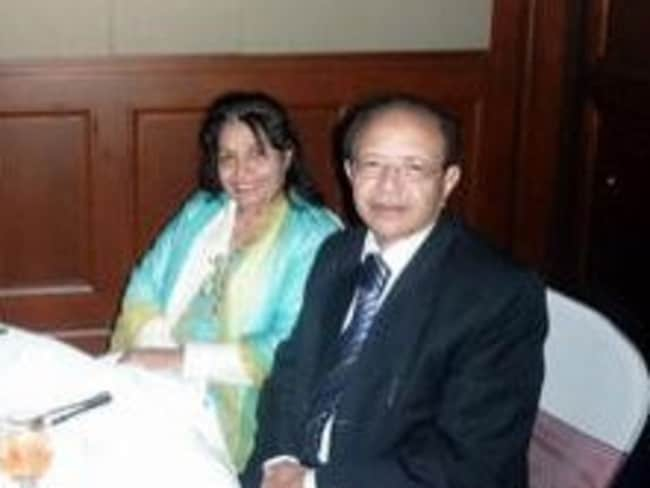 Murdered grandmother Shahnaz Qidwai with husband, Dr Khalid Qidwai. Picture: Supplied