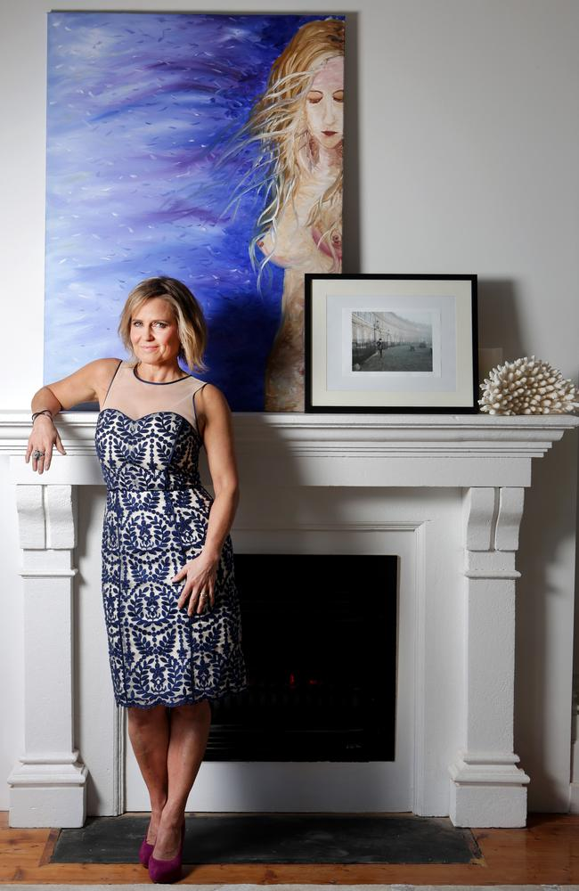 Sneak peek: Shayna puts her personal touch - a balance between art and photography - on her mantelpiece.