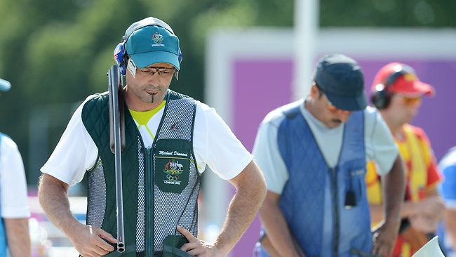 A shattered Michael Diamond after losing the bronze medal shoot-off.