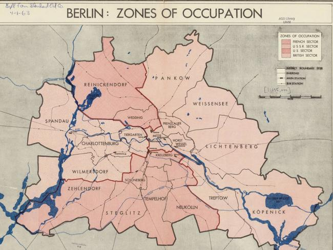 Berlin pictured divided after WW2. Picture: CIA