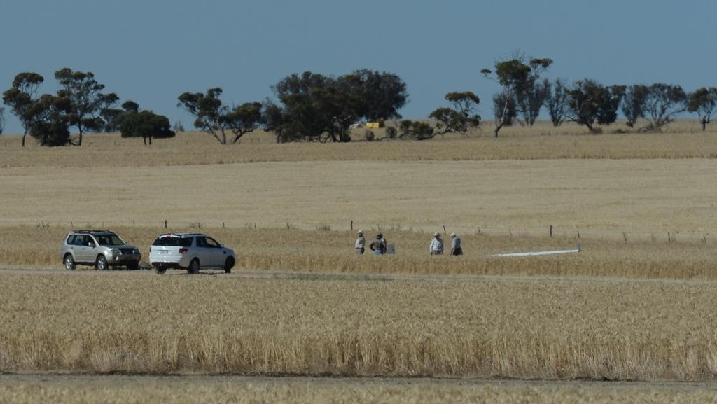 The scene of the accident at Balaklava Gliding Club. Picture: Tricia Watkinson