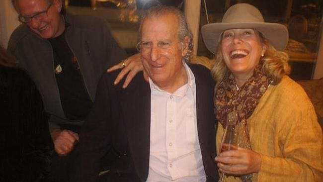 Ms Pfister with friend Gerry Goldstein at a party held at her Colorado mansion in Novembe
