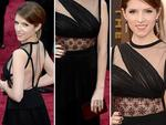 DETAILS: Anna Kendrick on the red carpet at the Oscars 2014. Picture: Getty
