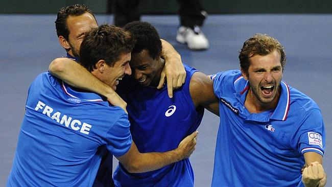 Gael Monfils proved the hero for France.