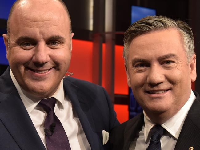 The Footy Show - May 2017 - Supplied by Channel 9. Craig Hutchison and Eddie McGuire.