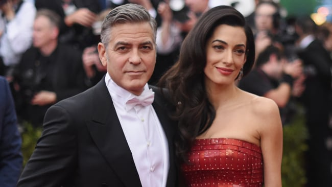 George and Amal Clooney at the Met Gala in 2015. Photo: Getty