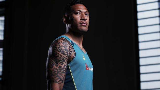 Israel Folau has stood by his 'Vote No' stance against same-sex marriage. Picture: Phil Hilyard