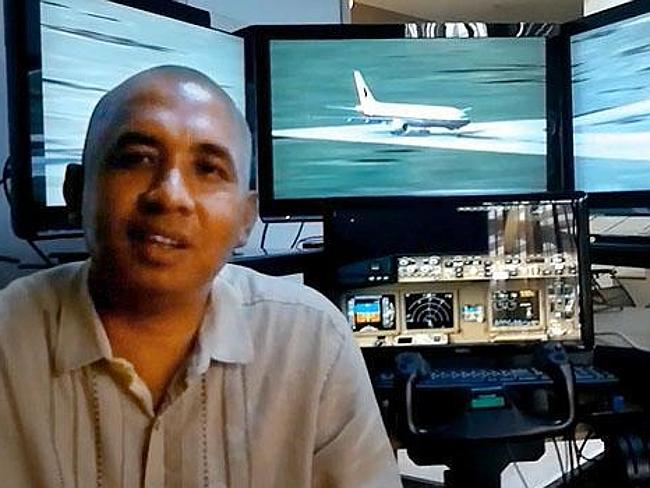 Zaharie Ahmad Shah with his flight simulator. Picture: YouTube