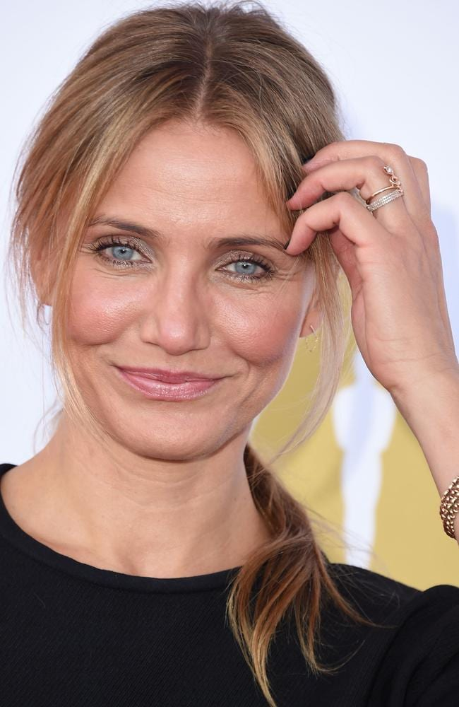 The ring? ... Cameron Diaz sports a new diamond encrusted band on her ring finger, with an insider saying she's engaged to Benji Madden. Picture: WireImage