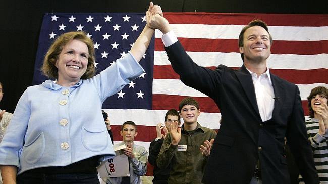 Democratic presidential hopeful former Sen. John Edwards and his wife Elizabeth in 2008. His wife has since passed away.