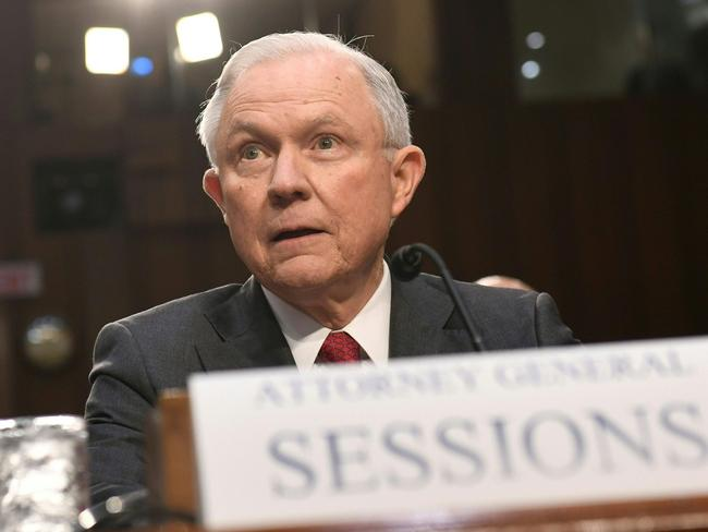 Attorney-General Jeff Sessions has denied colluding with Russian officials. Picture: AFP/Saul Loeb