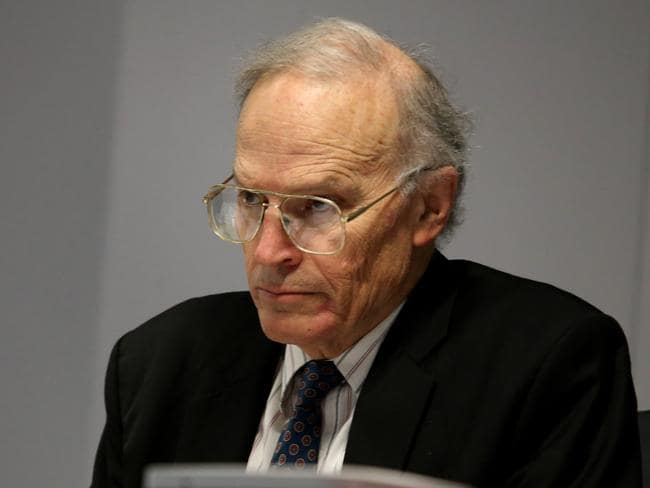 Commissioner Dyson Heydon did not accept Kathy Jackson's objections today. Picture: David Geraghty