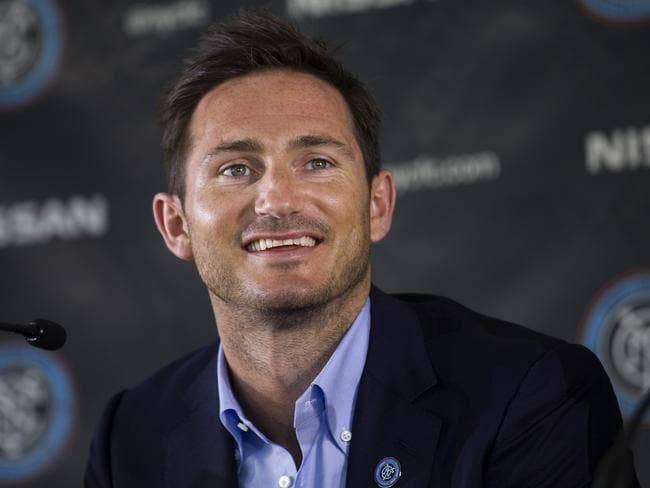 Frank Lampard at his formal unveiling as a New York City FC player.