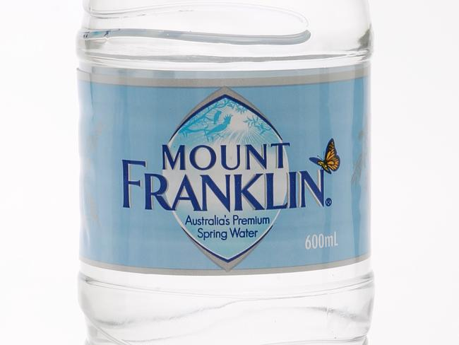 Items purchased in Sydney. Mount Franklin Water