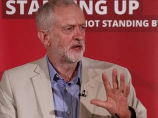 British opposition Labour Party leader Jeremy Corbyn delivers a speech following the pro-Brexit result of the UK's EU referendum vote, in central London on June 25, 2016. The result of Britain's June 23 referendum vote to leave the European Union (EU) has pitted parents against children, cities against rural areas, north against south and university graduates against those with fewer qualifications. London, Scotland and Northern Ireland voted to remain in the EU but Wales and large swathes of England, particularly former industrial hubs in the north with many disaffected workers, backed a Brexit. / AFP PHOTO / ODD ANDERSEN