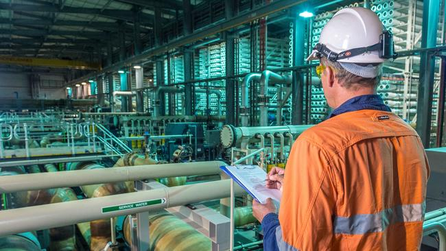 The state government is set to order 15GL a year from the desalination plant. Picture: Jake Nowakowski
