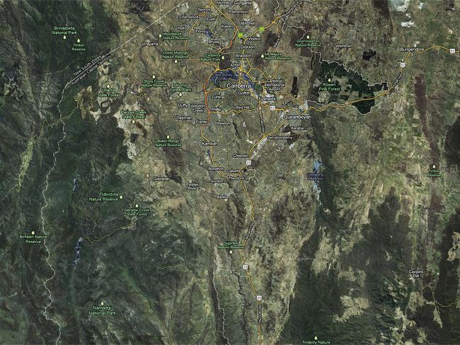"Canberra in 3-D: #10 Booroomba Rocks Walk ""Strenuous but rewarding"". Photo: Google Maps"