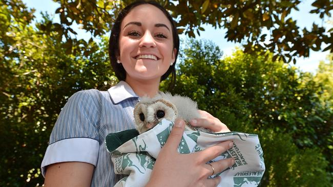 Kids from St Margaret's School have made pouches animals at the Healesville Sanctuary.