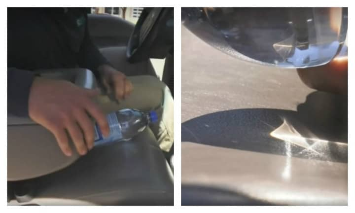 Warning: Why you should never leave a bottle of water in your car