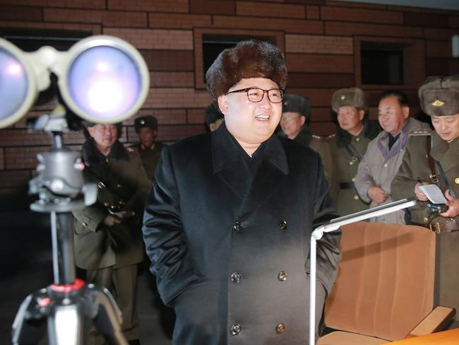 North Korean leader Kim Jong-Un plans to act while the US and South Korea are distracted by internal politics, a source has warned. Picture: AFP.