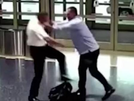 Off-duty pilot and passenger get into fight