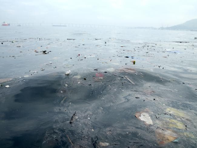Guanabara Bay, the site of sailing events for the Rio 2016 Olympic Games, has suffered from huge pollution. Picture: Matthew Stockman