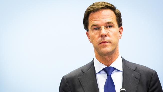 Popularity dip ... Dutch Prime Minister Mark Rutte's muted response to the MH17 disaster was criticised by many. Photo: Valerie Kuypers / AFP