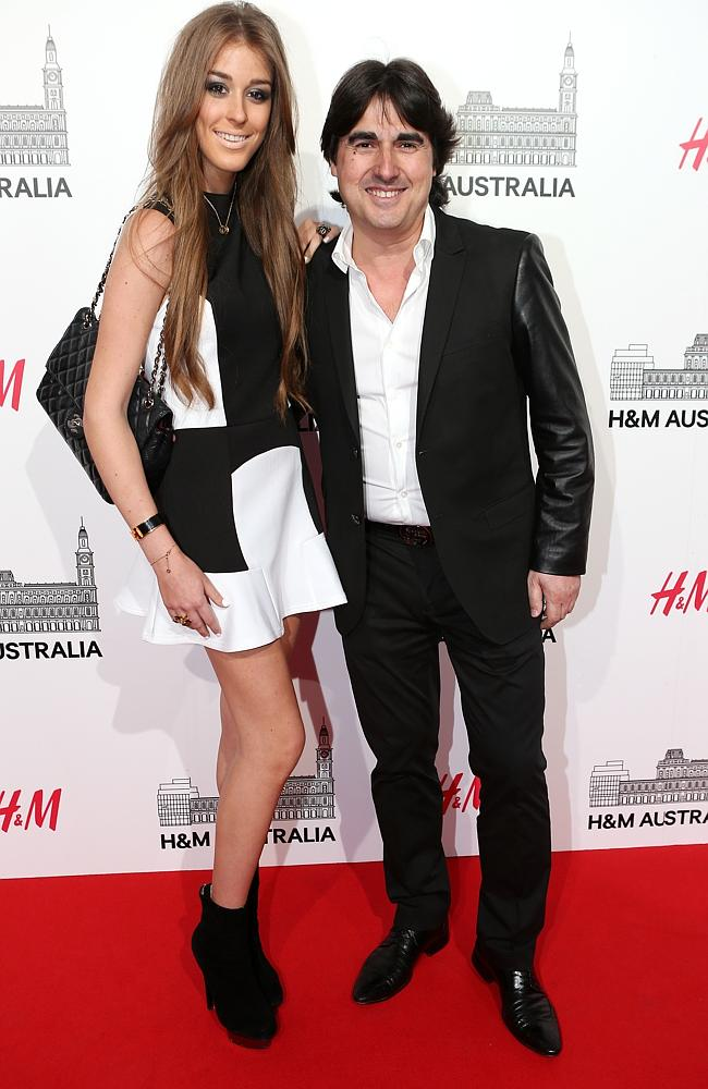 H&M opening night. Jess Barclay with Nick Giannopoulos. Picture By Julie Kiriacoudis