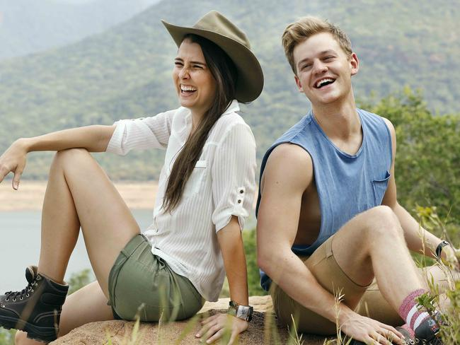 Visable ... Heather Maltman and Joel Creasey in the jungle. Picture: Nigel Wright
